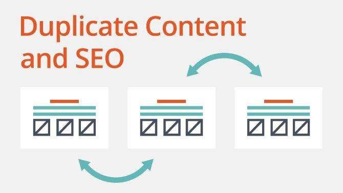 seo проблем с дублирано съдържание на сайтове