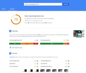 Google PageSpeed Insights инструмент