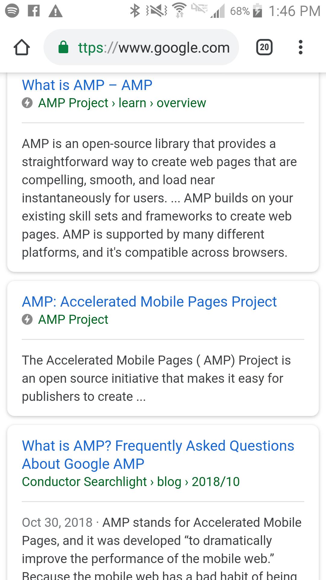 AMP страници