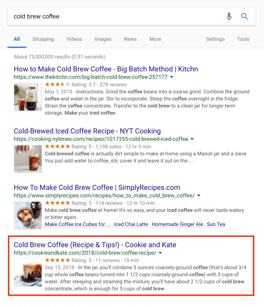 как потребителите взаимодействат с резултатите от търсенето и ги класира по тези показатели