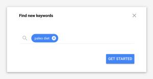 използване на Google Keyword Planner